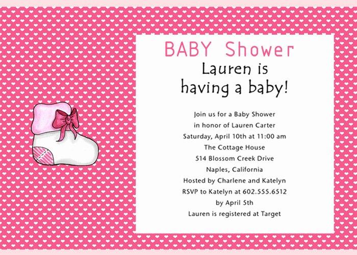 Baby Shower Programs Template Unique Baby Shower Invitation Wording Ideas 08