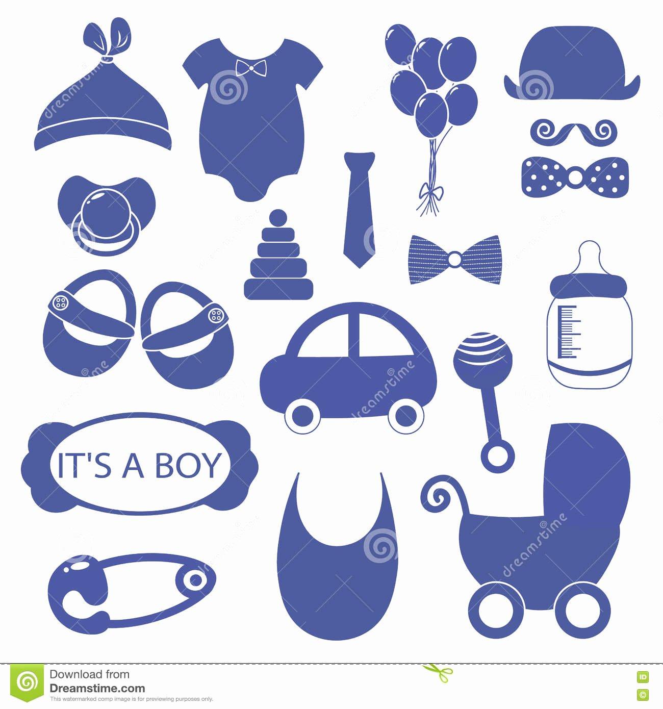 Baby Shower Shopping List Best Of Boy 18 Objects Clip Art Set Newborn Essentials Shopping