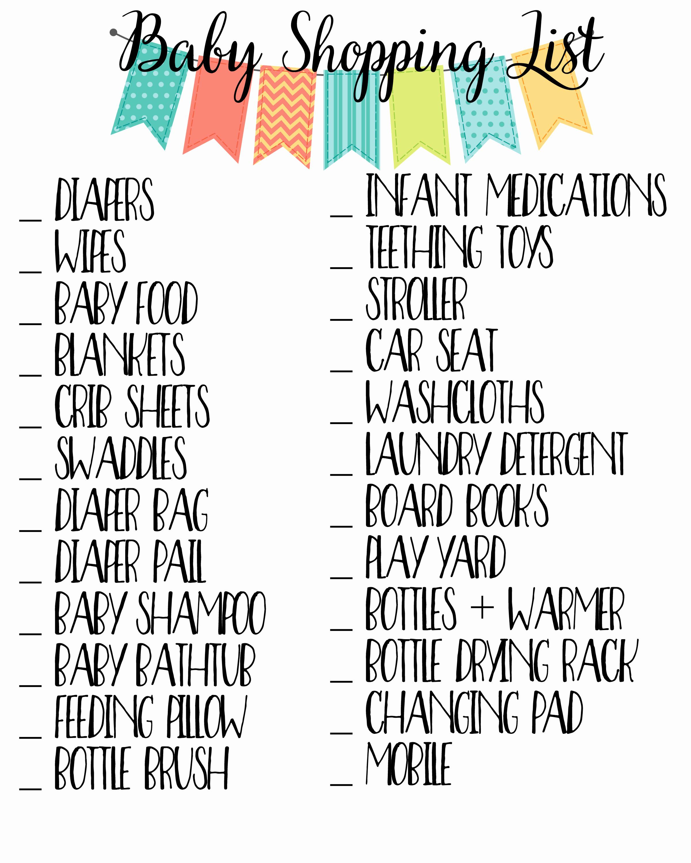 Baby Shower Shopping List New Baby Essentials Checklist Sunny Sweet Days
