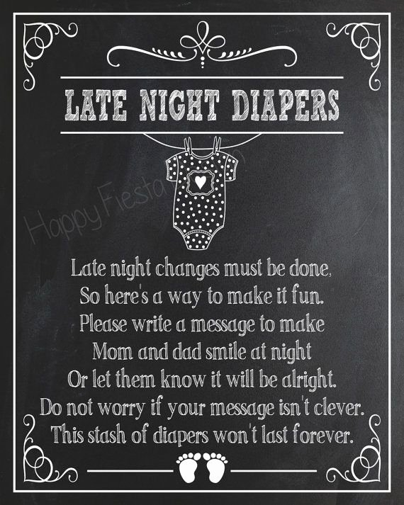 Baby Shower Signs Printable Beautiful Best 25 Late Night Diapers Ideas On Pinterest