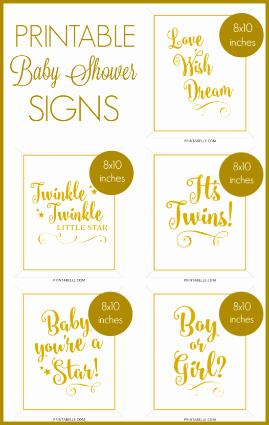 Baby Shower Signs Printable Elegant Baby Shower Printable Signs – Printabelle