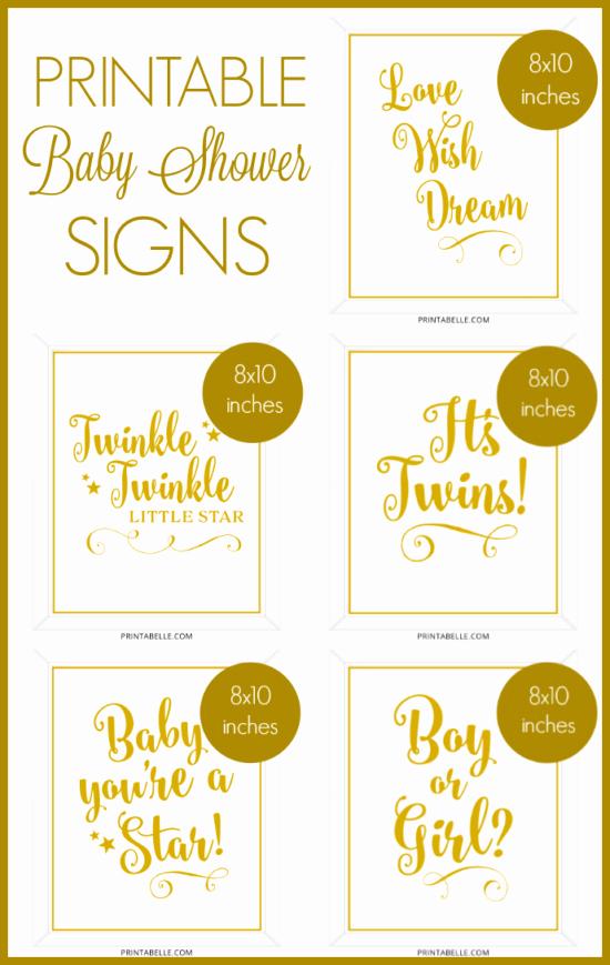Baby Shower Signs Printable Elegant Baby Shower Printable Signs – Printabelle