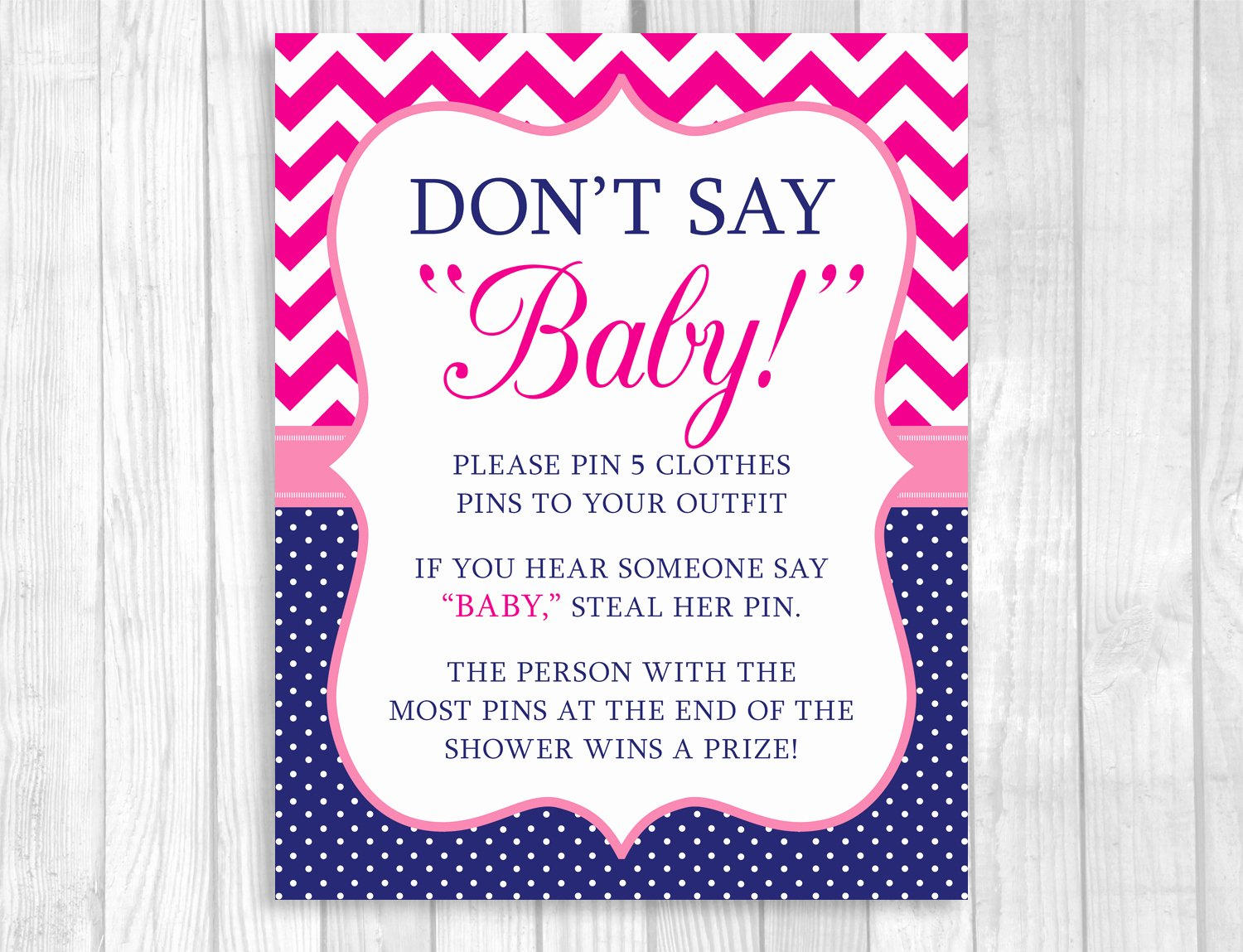 Baby Shower Signs Printable Fresh Weddings by Susan Hot Pink Chevron and Navy Blue Polka