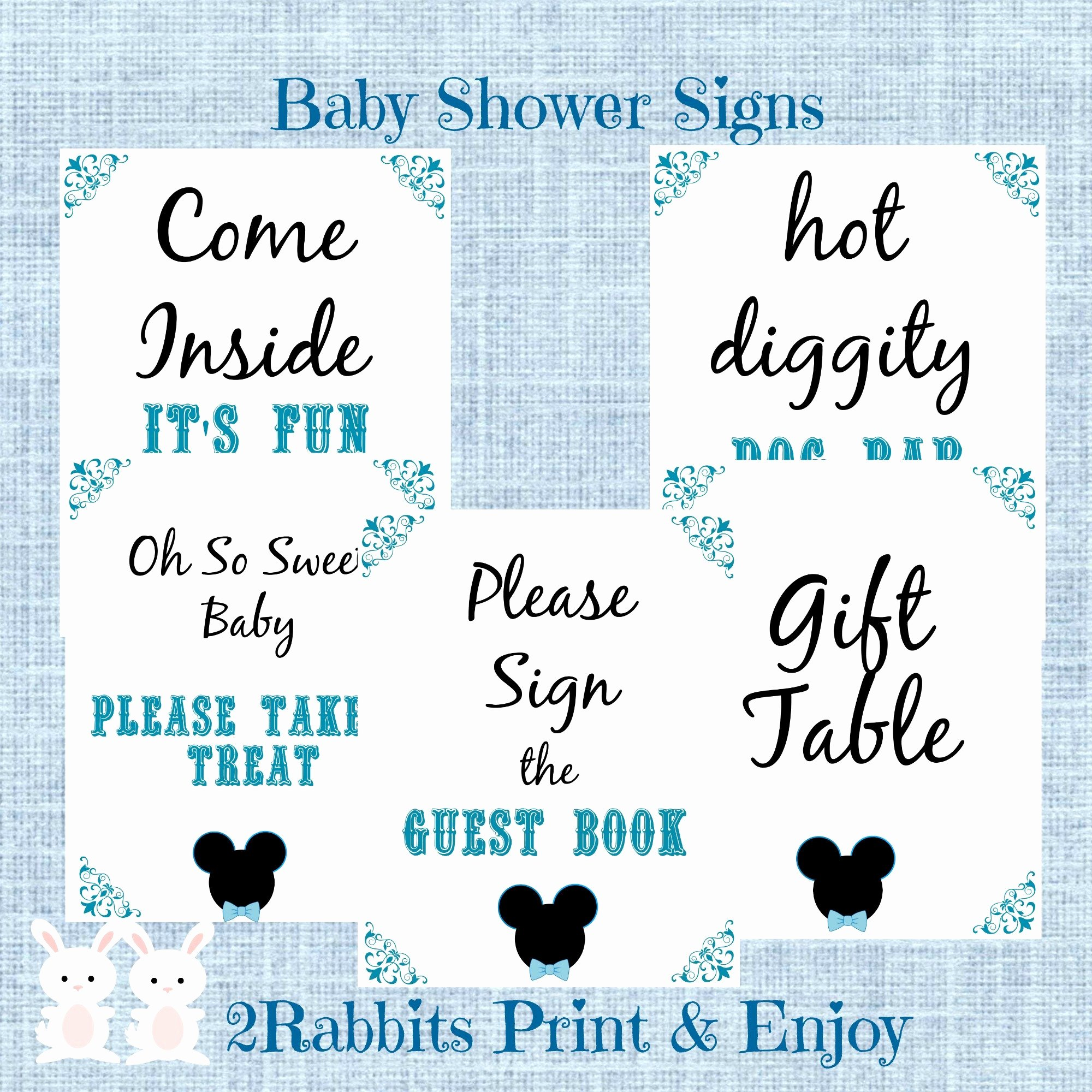Baby Shower Signs Printable Luxury Mickey Mouse Babyshower Ideas My Practical Baby Shower Guide