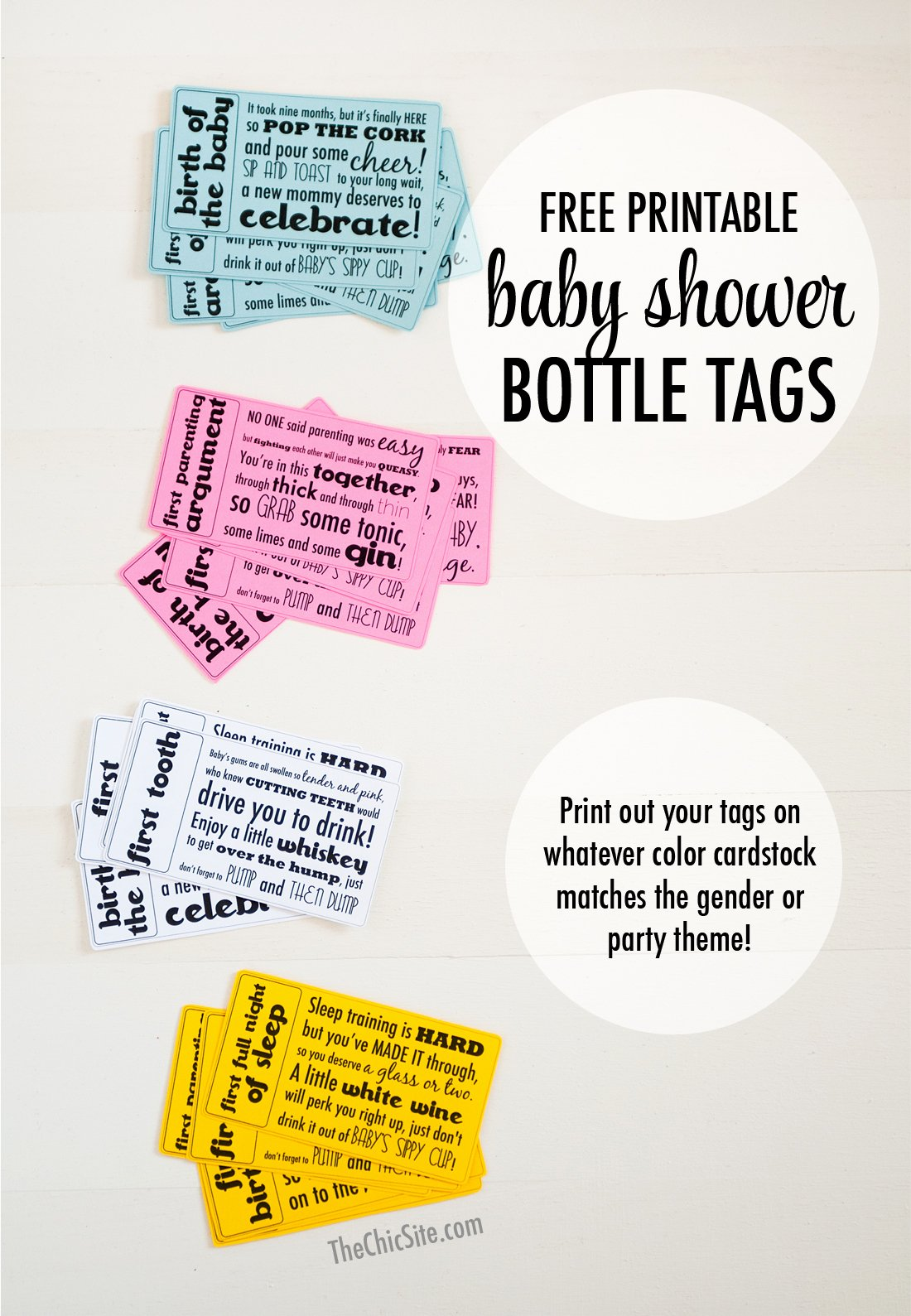 Baby Shower Tags Printable Awesome Baby Shower Gift Tags the Chic Site