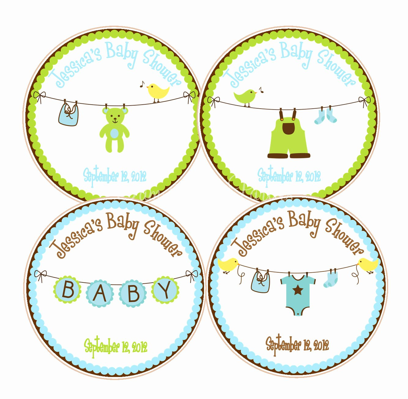 Baby Shower Tags Printable Awesome Cute Boy Baby Shower Favor Tags Baby Showers or 1st Birthday