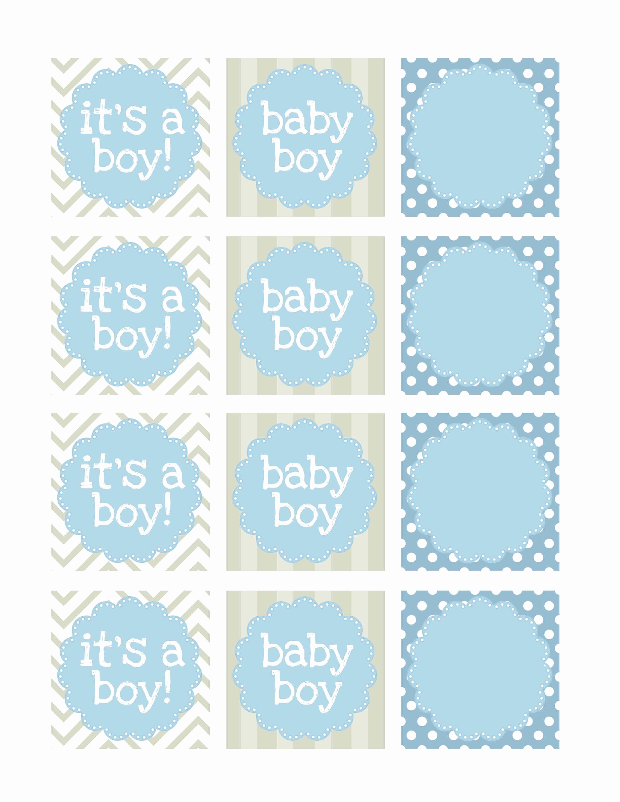 Baby Shower Tags Printable Beautiful Boy Baby Shower Free Printables How to Nest for Less™