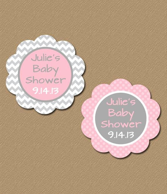 Baby Shower Tags Template Beautiful Personalized Baby Shower Party Favor Tags Printable Pink