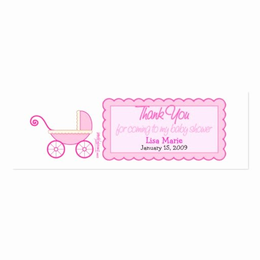 Baby Shower Tags Template Best Of Baby Shower Favor Tag Double Sided Mini Business Cards