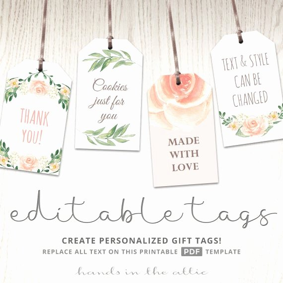 Baby Shower Tags Template Best Of Printable Baby Shower Labels Editable T Tags Bridal