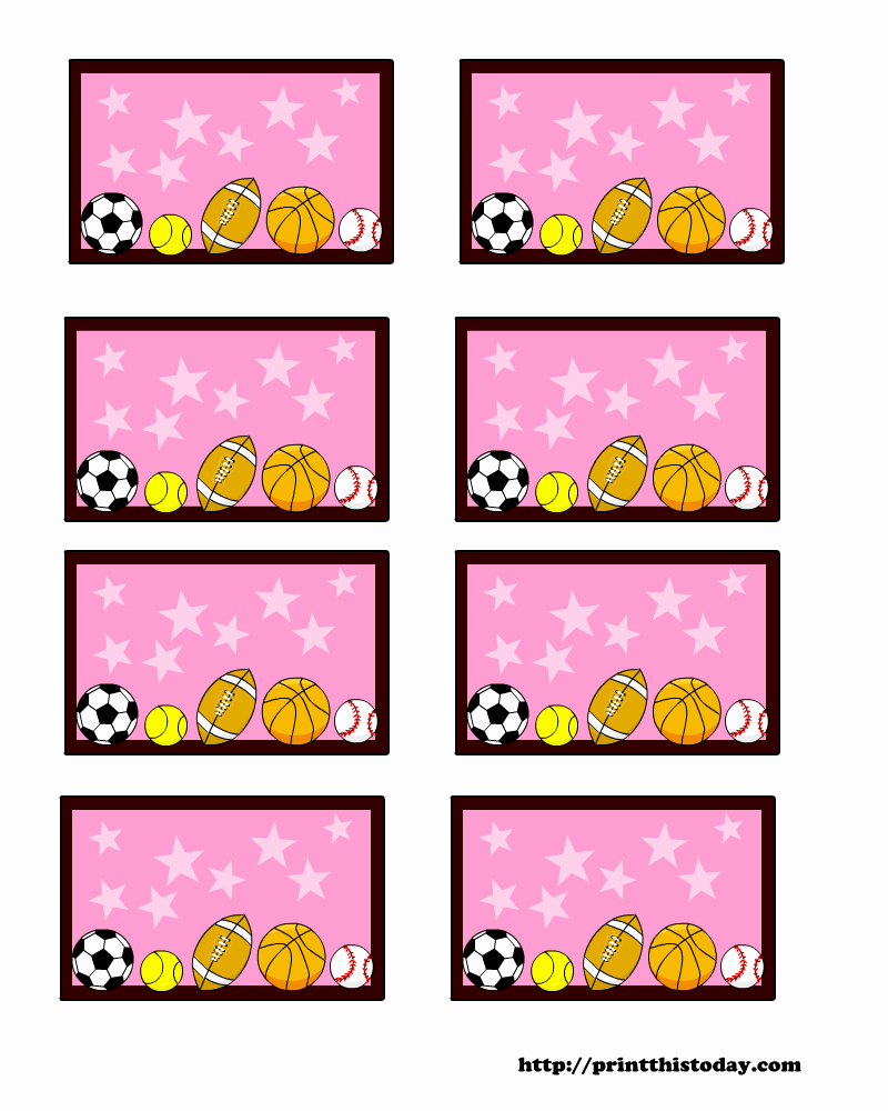 Baby Shower Tags Template Best Of Sports themed Baby Shower Labels Templates