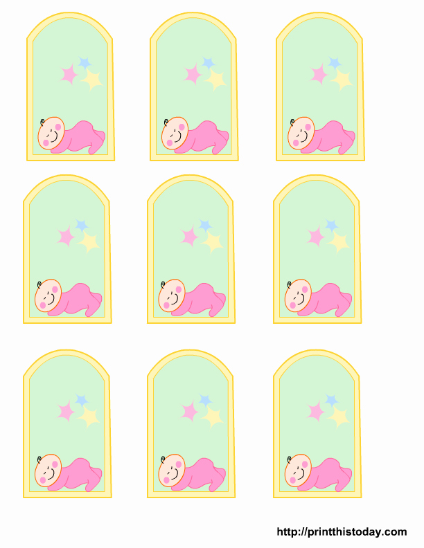 Baby Shower Tags Template Elegant Free Printable Baby Girl Boy Baby Shower Favor Tags