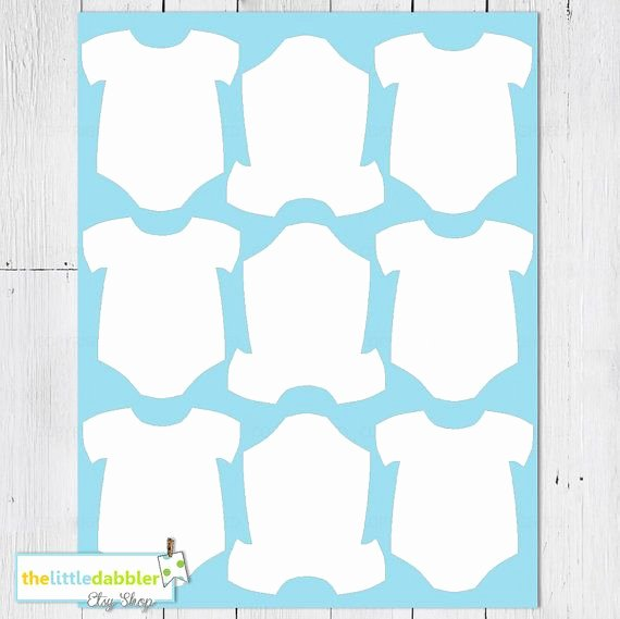 Baby Shower Tags Template Fresh Free Printable Baby Esie Template Cards In 2019