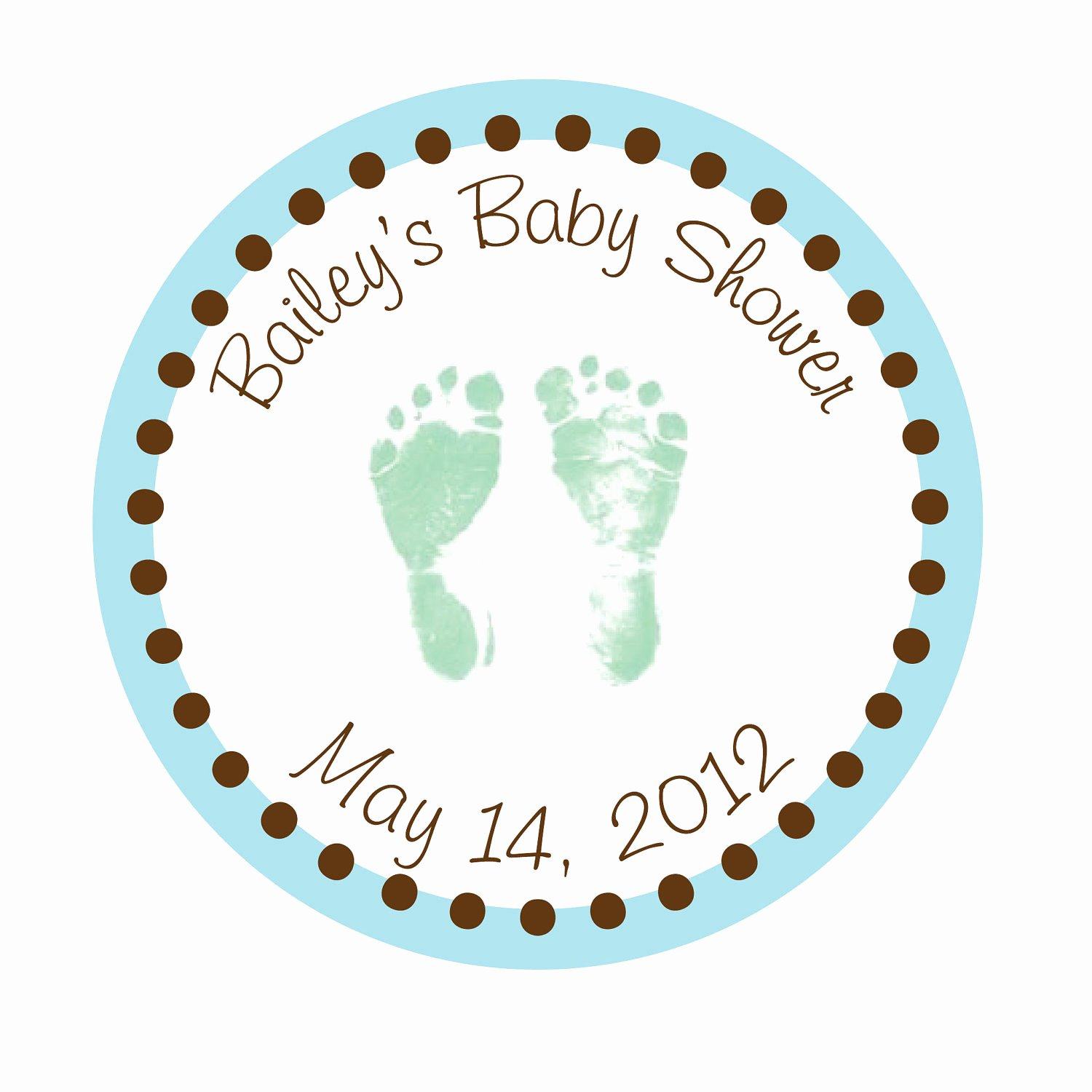 Baby Shower Tags Template Inspirational Personalized Stickers Baby Feet Baby Shower by Simplysweetness