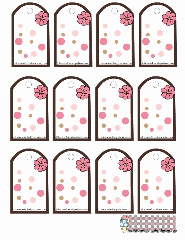 Baby Shower Tags Template Lovely themes for Baby Shower Favor Tags Girl Baby