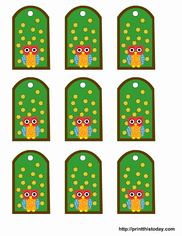 Baby Shower Tags Template New Free Owl Baby Shower Favor Tags Templates