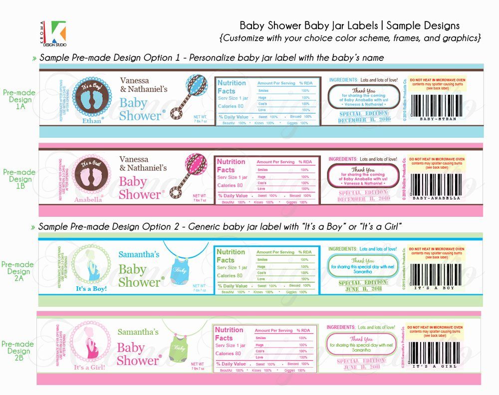 Baby Shower Tags Template Unique Baby Showers Diy Printable Baby Jar Label Favors for