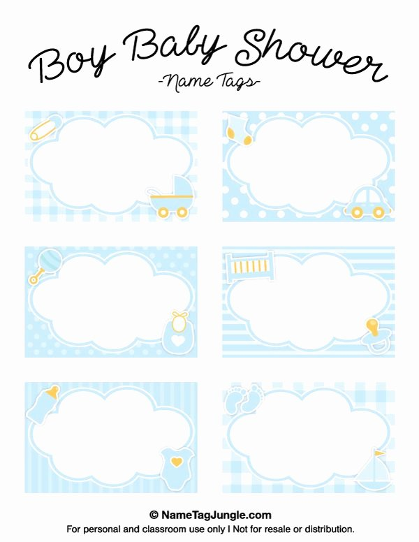Baby Shower Tags Template Unique Free Printable Boy Baby Shower Name Tags the Template Can