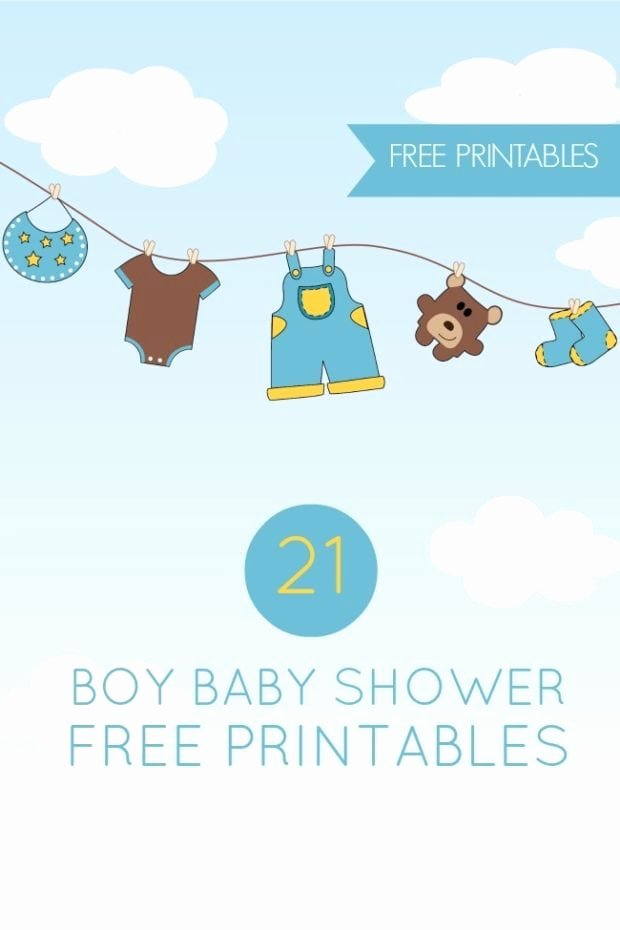 Baby Shower Template Free Fresh 21 Free Boy Baby Shower Printables