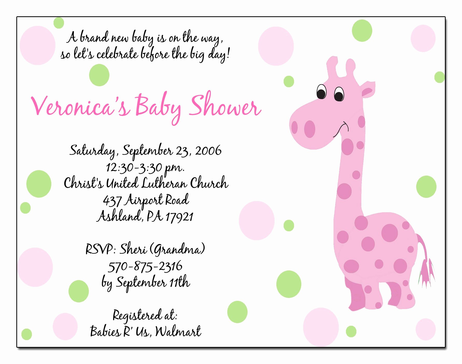 Baby Shower Template Free Fresh Baby Shower Invitation Free Baby Shower Invitation