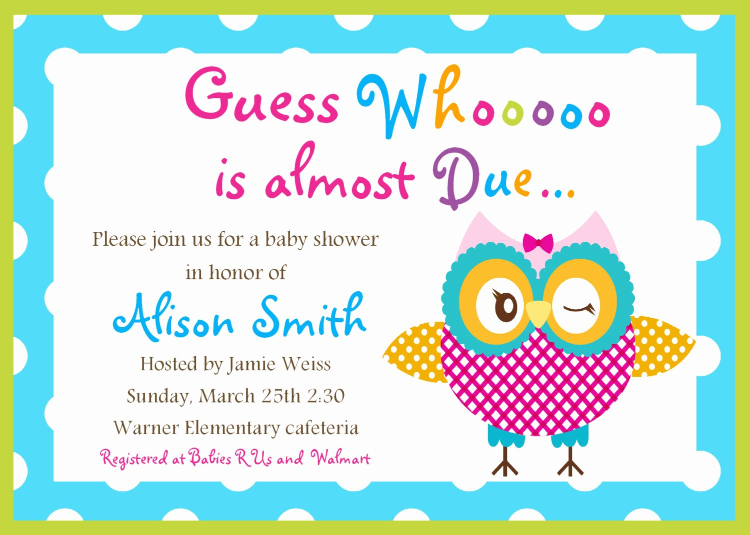 Baby Shower Template Free Inspirational Free Printable Baby Shower Cards