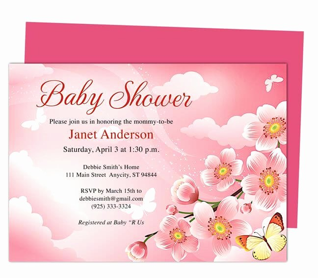 Baby Shower Template Free Lovely Baby Shower Invitation Templates Word