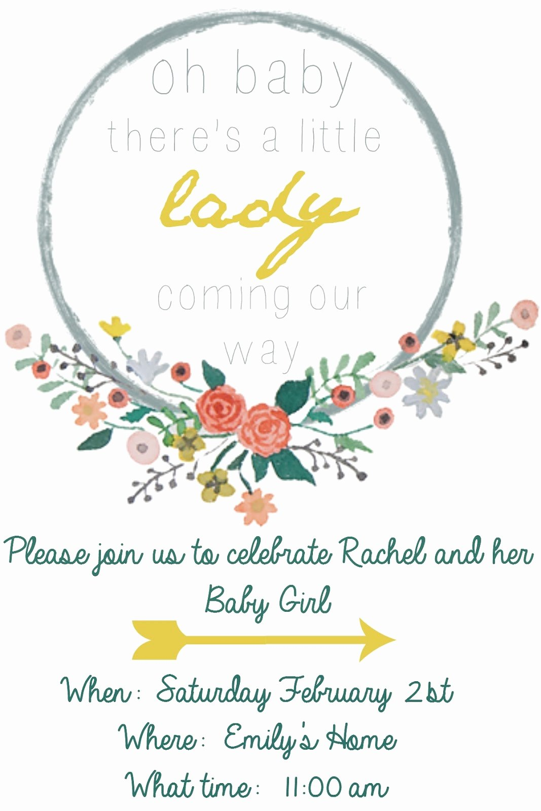 Baby Shower Template Free Lovely Emmy In Her Element Free Baby Shower Invitation Template