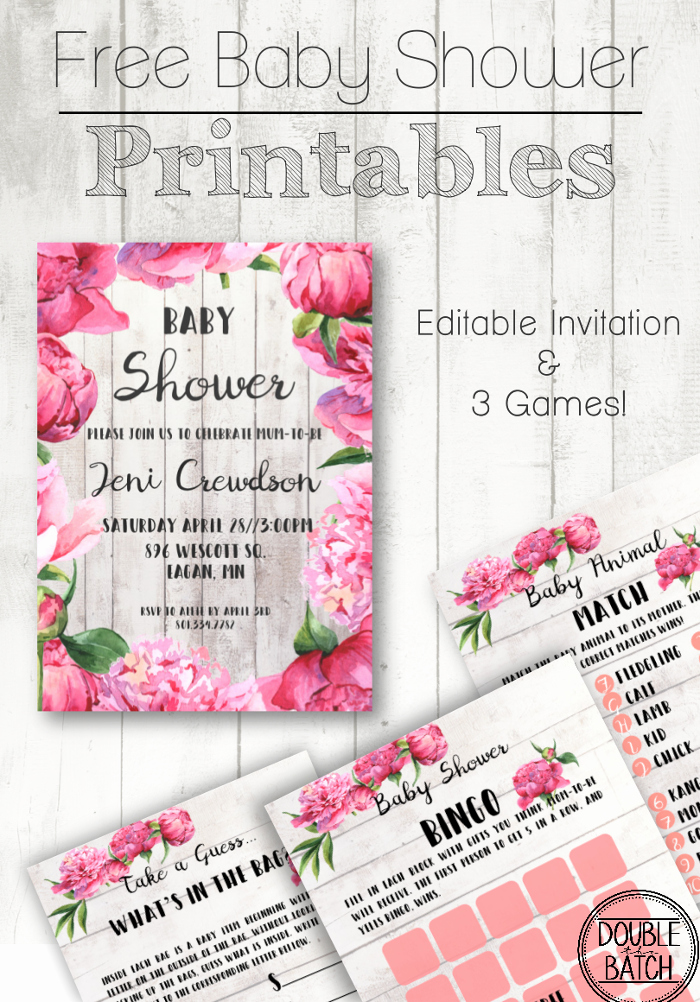Baby Shower Template Free Lovely Free Baby Shower Printables
