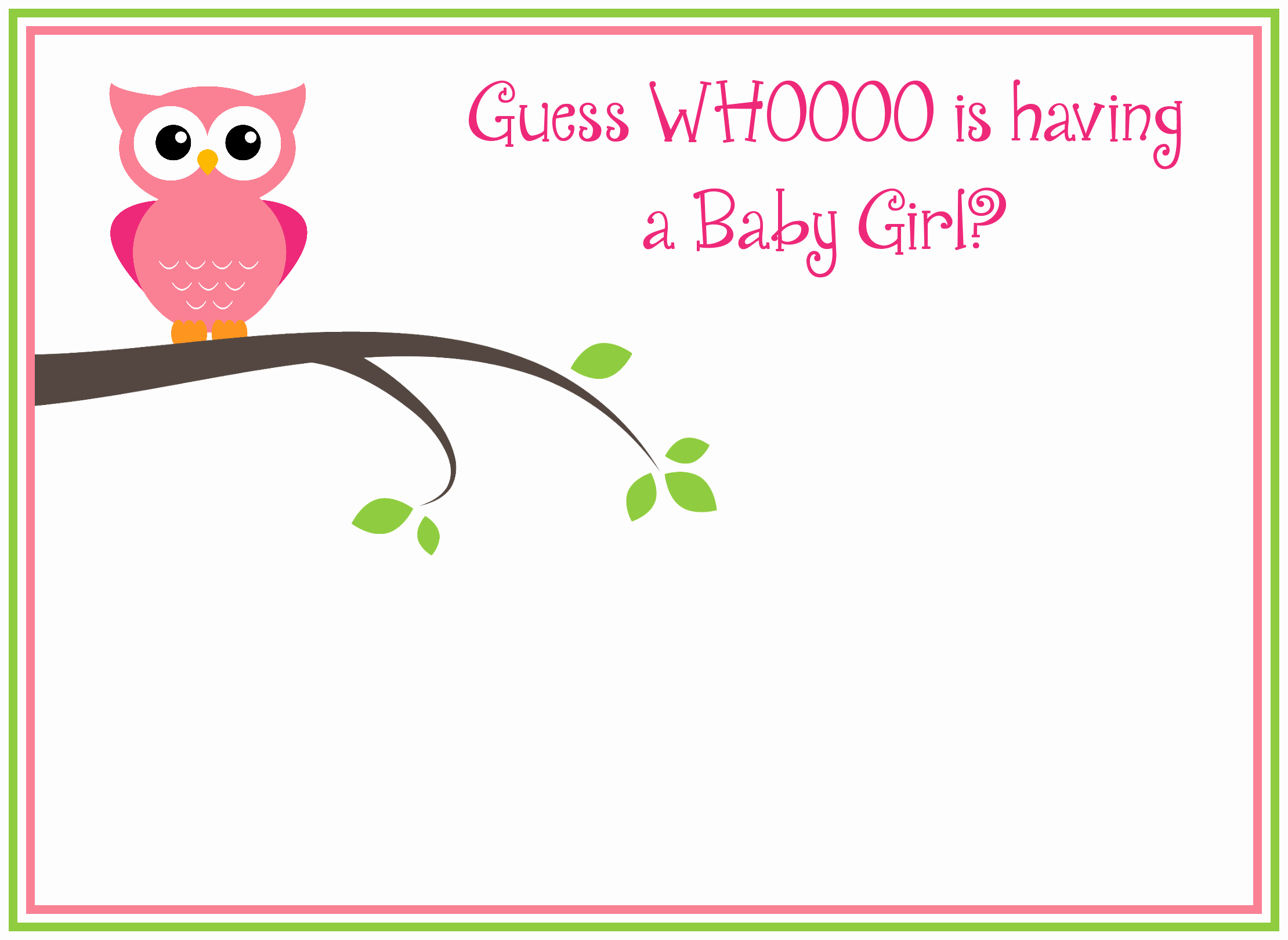 Baby Shower Template Free Luxury Free Printable Girl S Owl Baby Shower Invitations