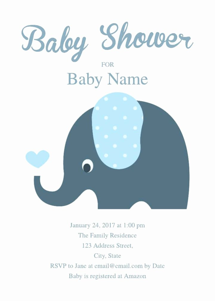 Baby Shower Template Free Unique 2 Free Baby Shower Invitation Templates & Examples
