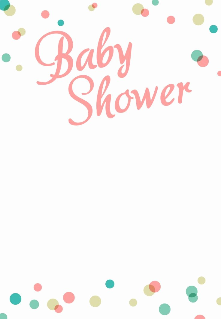 Baby Shower Template Free Unique Dancing Dots Borders Free Printable Baby Shower