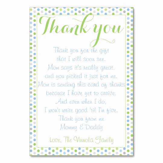 Baby Shower Thank You Letter Elegant Baby Shower Thank You From Baby