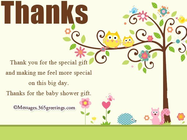 Baby Shower Thank You Letter Elegant Baby Shower Thank You Notes 365greetings
