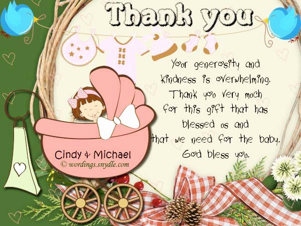 Baby Shower Thank You Letter Elegant Baby Shower Thank You Notes Samples Wordings and Messages