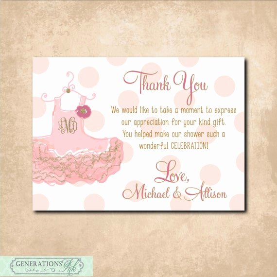 Baby Shower Thank You Letter Elegant Thank You Note to Match Baby Shower Invitation Digital File