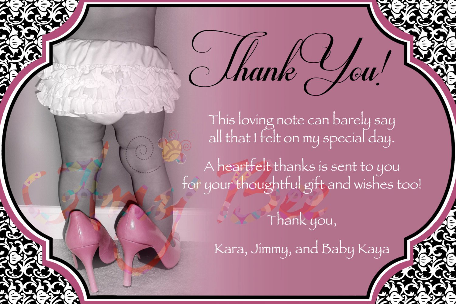 Baby Shower Thank You Letter Fresh Baby Girl Shower Thank You Note Vintage Printable