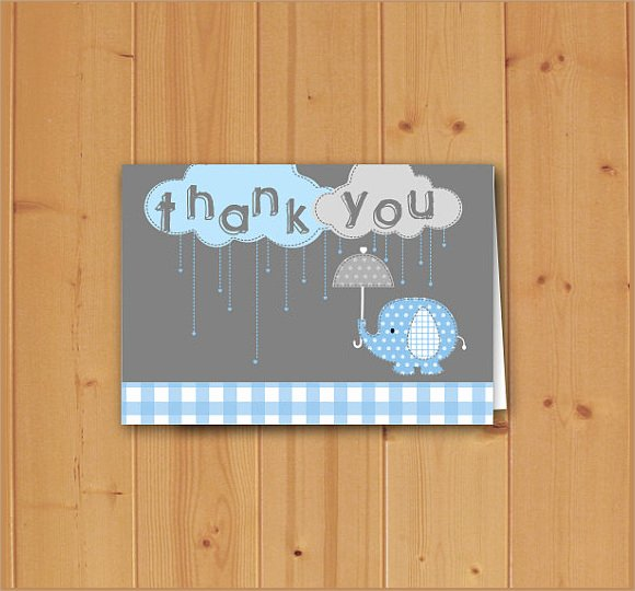 Baby Shower Thank You Template Awesome 13 Baby Shower Thank You Notes Psd Eps Pdf