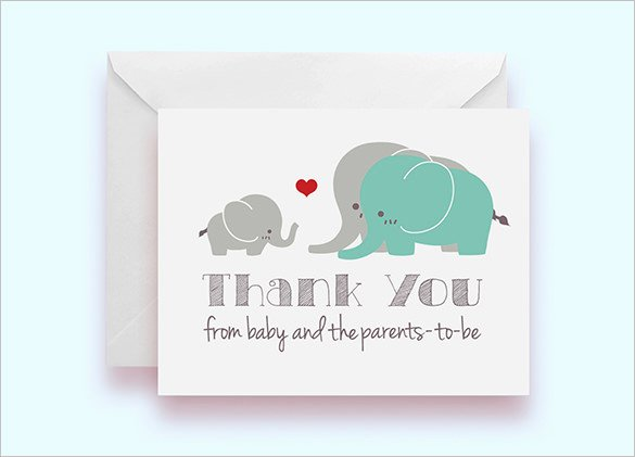 Baby Shower Thank You Template Best Of 35 Baby Shower Card Designs & Templates Word Pdf Psd