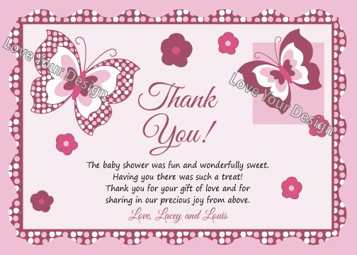 Baby Shower Thank You Template Best Of How to Decide Appropriate Baby Shower Thank You Card