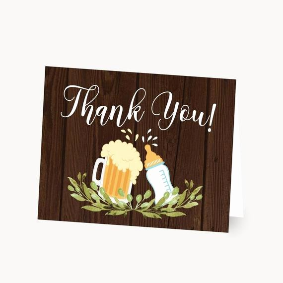 Baby Shower Thank You Template Elegant A Baby is Brewing Baby Shower Thank You Card Template Diy