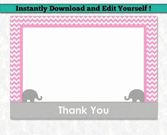 Baby Shower Thank You Template Fresh 12 Best Editable Baby Shower Invitation Templates Images