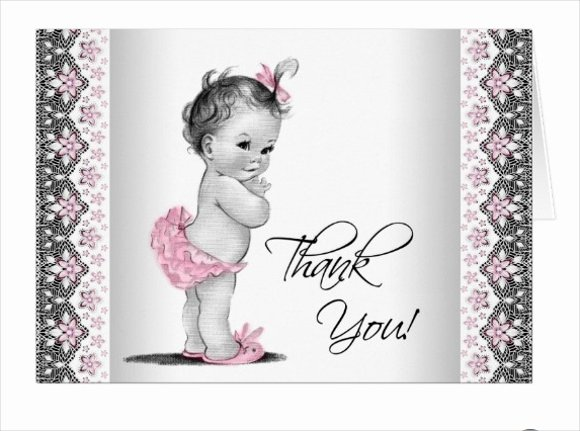 Baby Shower Thank You Template Fresh 50 Printable Thank You Cards Psd Ai
