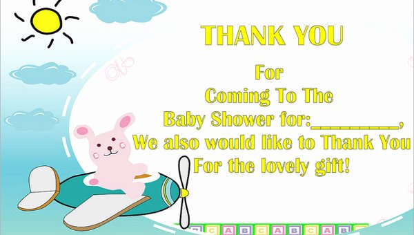 Baby Shower Thank You Template Inspirational 7 Baby Shower Thank You Cards Psd Eps
