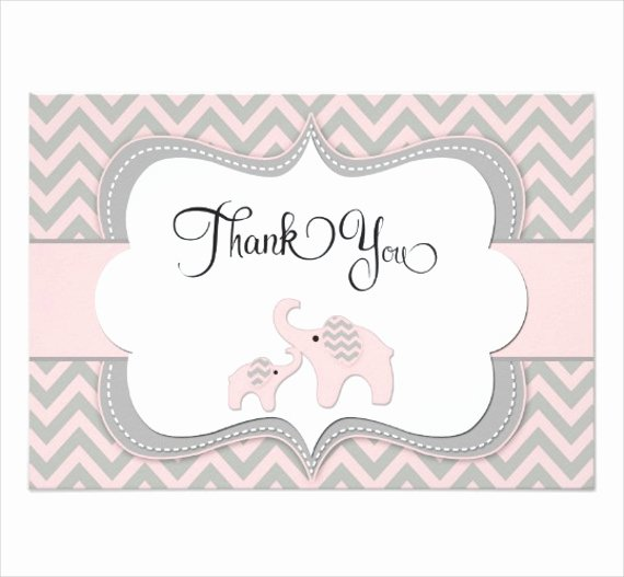 Baby Shower Thank You Template Lovely Elephant Thank You Cards Fn26 – Advancedmassagebysara