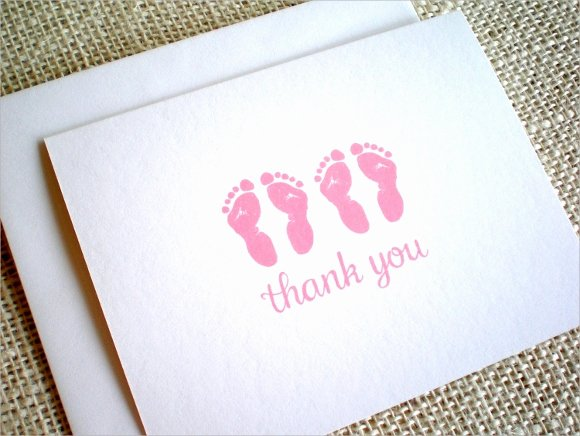 Baby Shower Thank You Template Luxury 13 Baby Shower Thank You Notes Psd Eps Pdf