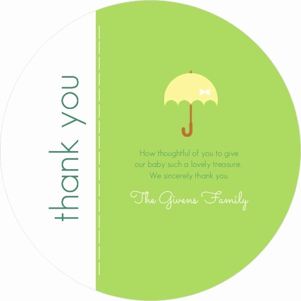 Baby Shower Thank You Template Luxury Lovely Green Shower Baby Shower Thank You Card Template