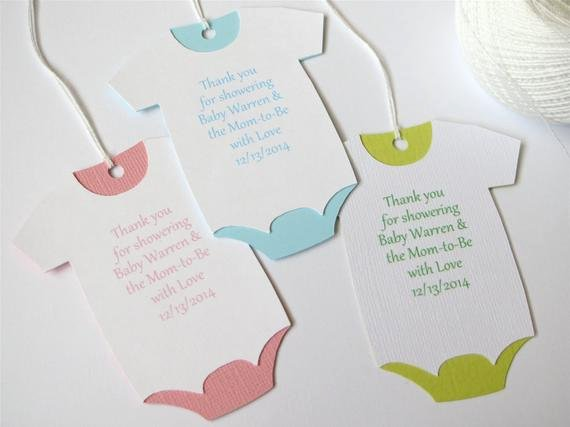 Baby Shower Thank You Template New Baby Shower Thank You Tags Custom Baby Shower Favor