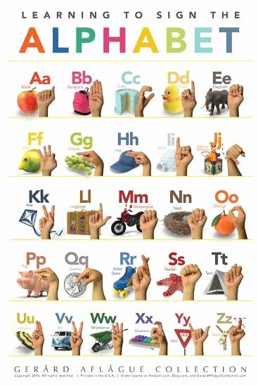 Baby Sign Language Posters Beautiful Children S American Sign Language Alphabet Posters by