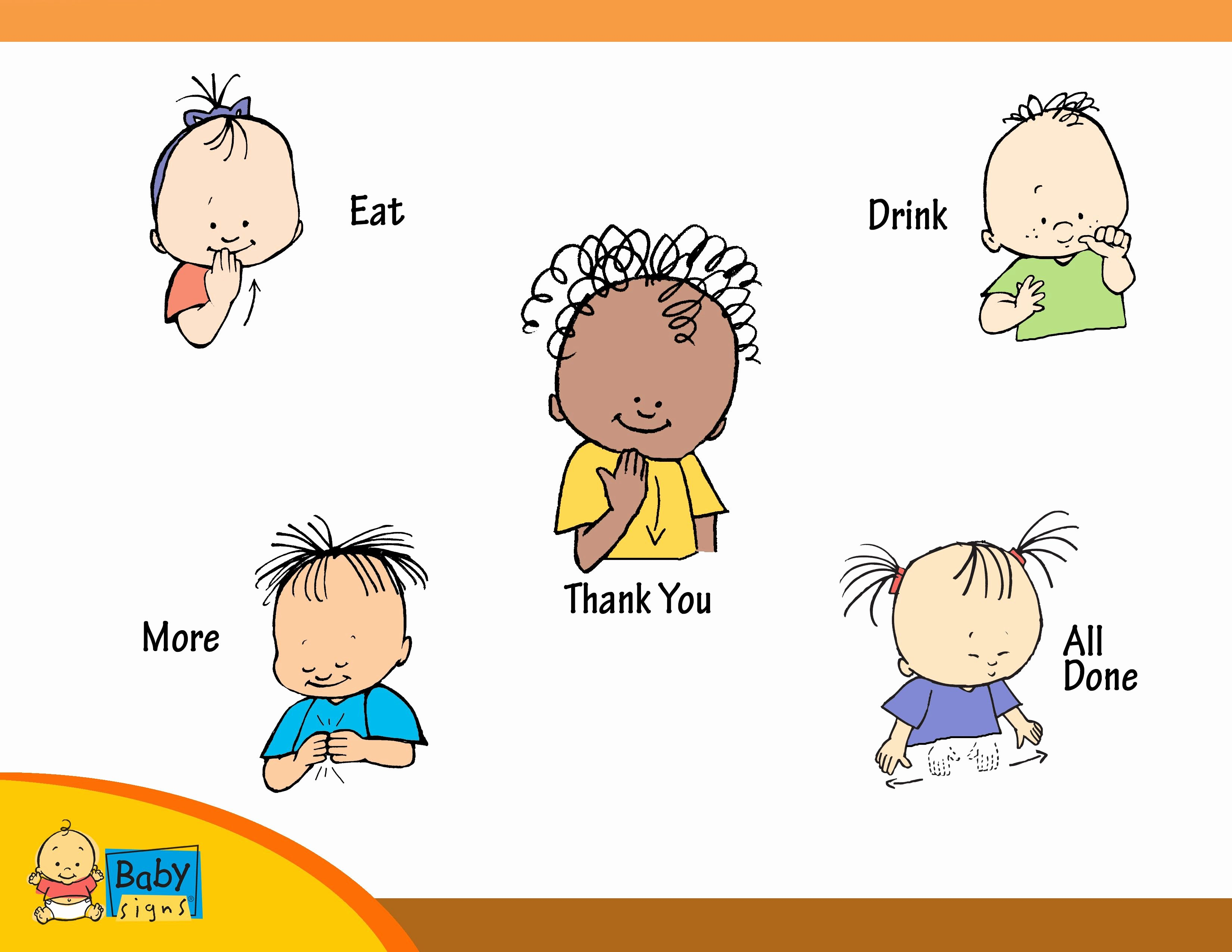 Baby Sign Language Posters Fresh Holiday Placemat Poster with Signs for Eat Drink Thank