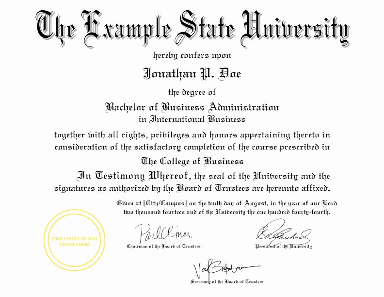 Bachelor Degree Certificate Template Elegant Buy A Fake College Diploma Line